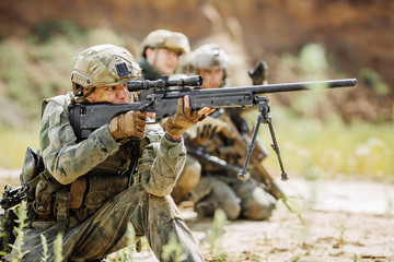 sniper during the military operation