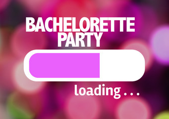 Progress Bar Loading with the text: Bachelorette Party