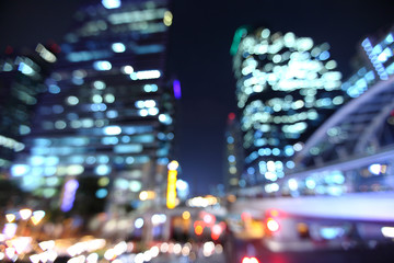 bangkok cityscape at twilight time, Blurred Photo bokeh