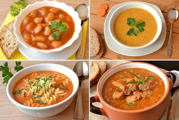 zestaw różnych zup