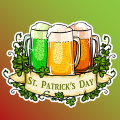 St. Patricks Day label