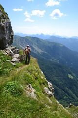 Trekking - escursionista in montagna