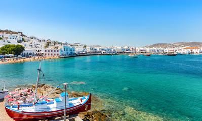 Old Town Harbor, Mykonos Island Greece