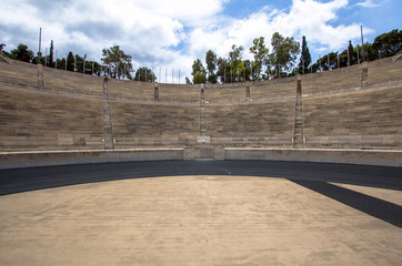 Panathenaic stadium or kallimarmaro in Athens, Greece
