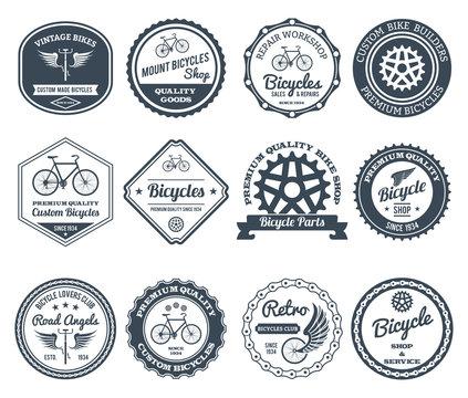Cycling Emblems Black Set