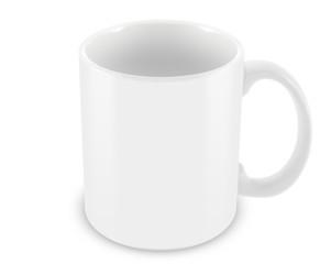 Tasse sur fond blanc