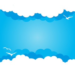 Cloud background with place for Your text