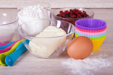 Products for cupcakes preparation
