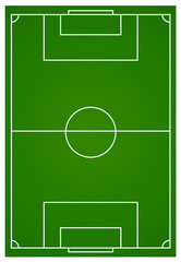 Soccer or football field aerial