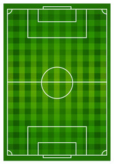 Soccer sports field with lines