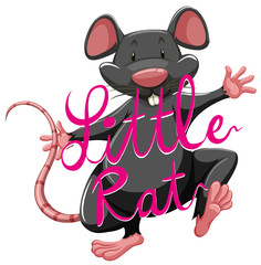 Litte rat idiom with text