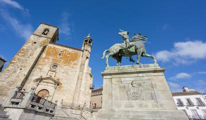 The historical town of Trujillo. Plaza Mayor