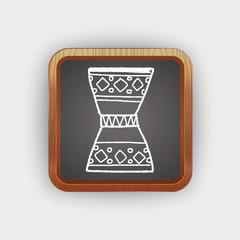 African drum doodle