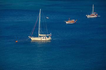 Sailing vessel  at mooring