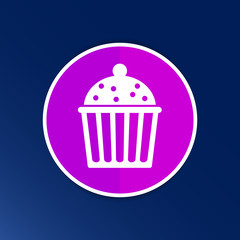 Logo cake cupcake vector symbol label design