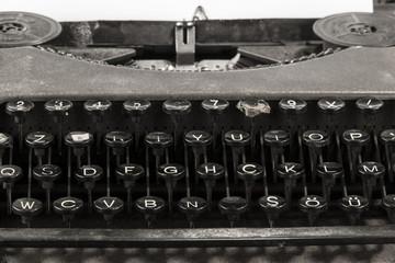 typewriter close up