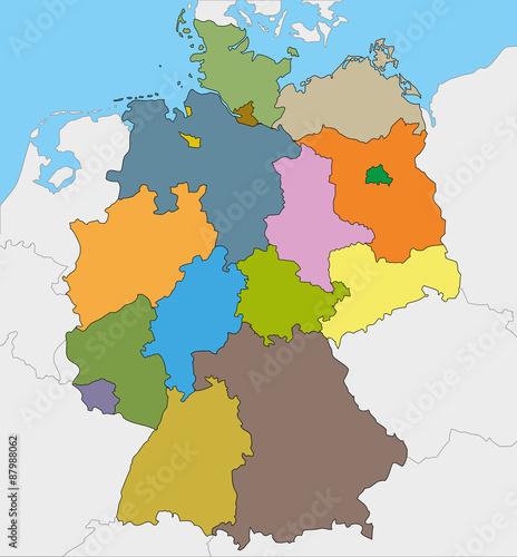 deutschland karte und bundesl nder landkarte europa stockfotos und lizenzfreie vektoren auf. Black Bedroom Furniture Sets. Home Design Ideas