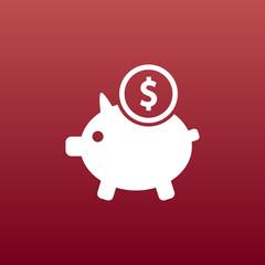 Piggy icon bank economy coin money piggy savings