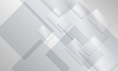 Abstract backround and transparent glass rectangles
