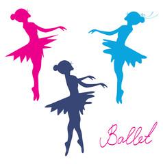 Ballerina silhoette set - posing girls
