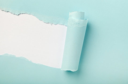 Torn colored paper