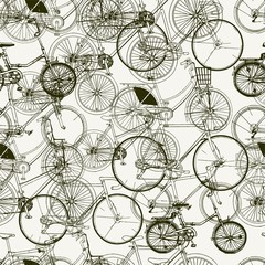 Abstract Seamless bicycles pattern. Stylish vector print