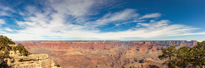 Grand canyon nation park, Arizona, USA. Panoramic image.