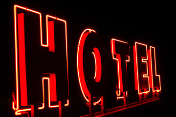 Light advertisement for Hotel