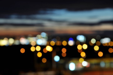 bokeh of night city