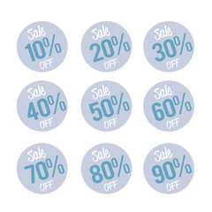 Percent OFF Discount Label Tag white