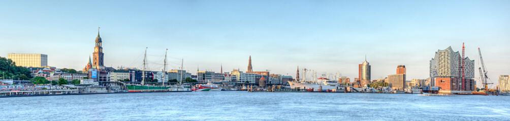 Photo Blinds Port Hamburg Elbufer Panorama