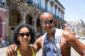 Portrait of a Cuban couple in Havana, Cuba