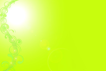 Abstract Green Sunny Good Mood Spring Background