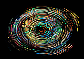 Bright circle shining fiery abstract multicolored background