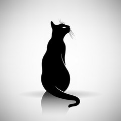 stylized silhouette of a cat