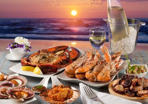 seafood restaurant on the beach