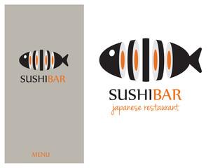 Logo design element. Sushi, restaurant, japanese