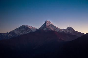 Himalayan mountains at sunrise