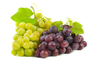 White and red grapes.