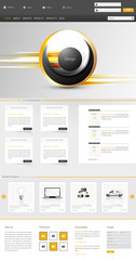 One Page Website Template, Creative Modern design,