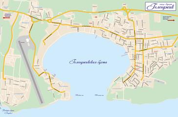 Схема курорта Геленджик