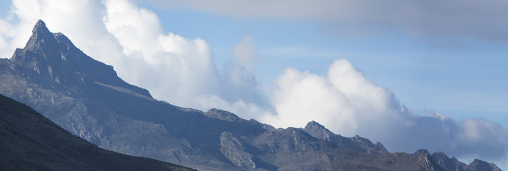 Panorama of the Andes mountains. State of Merida. Venezuela