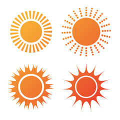 Sun and summer design.