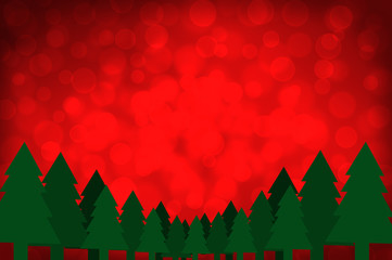 Red bokeh  Christmas background