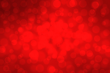 Red bokeh on a dark background Christmas