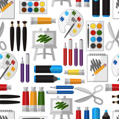 Artistic tool seamless pattern