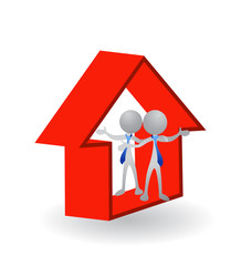 House real estate agents logo