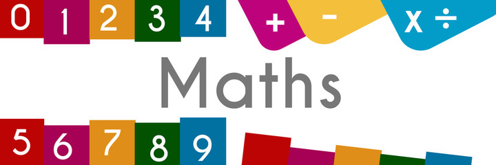 Maths Colorful Background