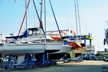 Yacht in maintenance