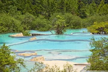 Fototapete - 黄龍の五彩池